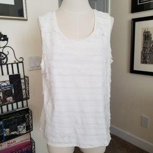 Coldwater Creek white blouse size XL euc